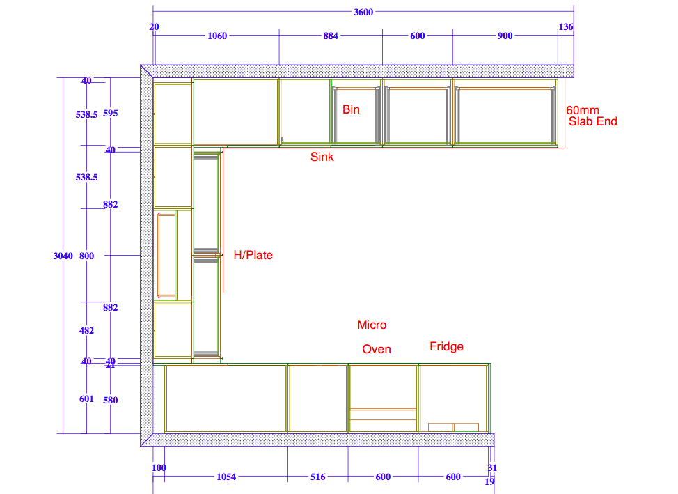 Measuring a kitchen by Peter Hamond at Windsor Kitchens using kitchen design planning tools