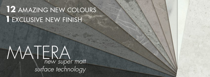 polytec MATERA matt surface range is available in 12 new colours and 1 exclusive finish