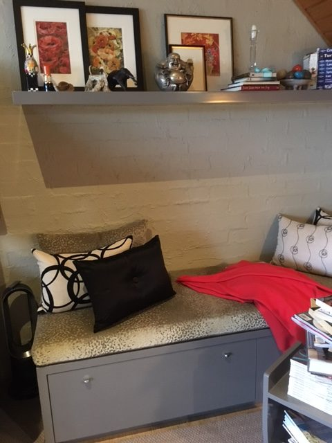 Cosy reading nook created by Libby Gumley Geelong Interior Designer