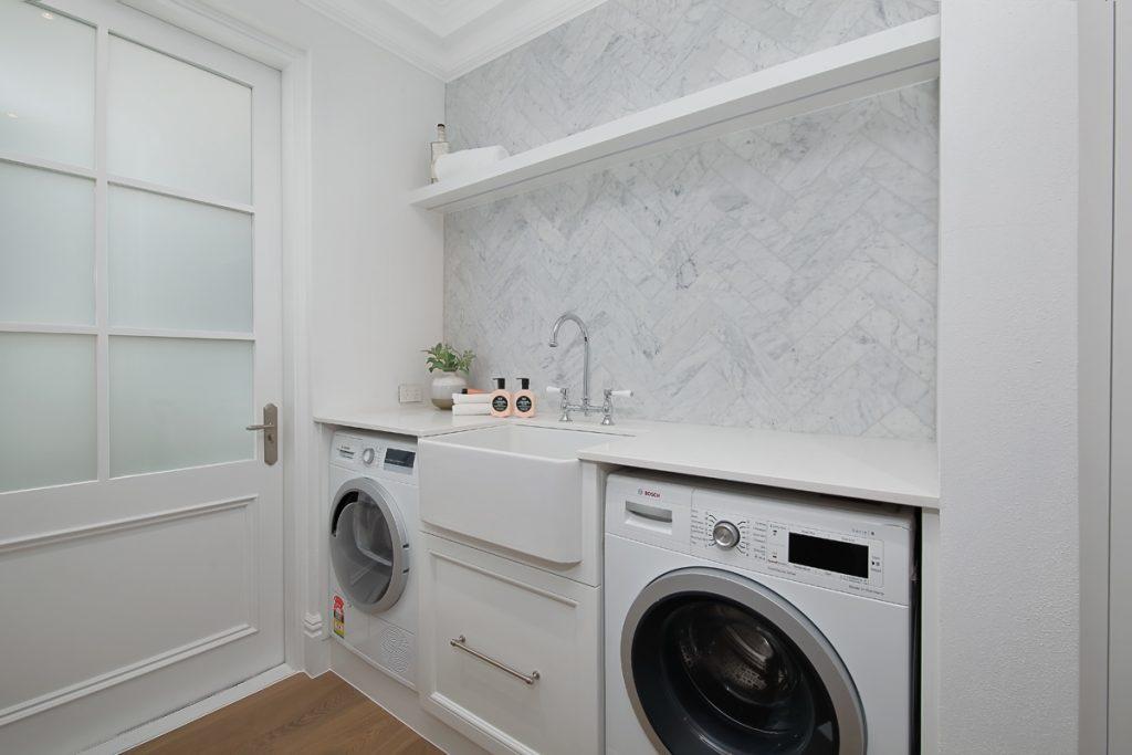 Caesarstone Organic White in the Laundry